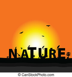 nature color vector  illustration