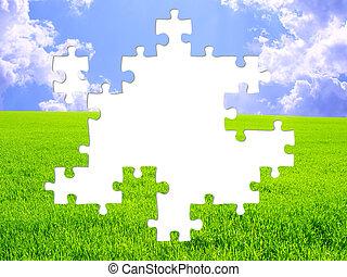 Nature concept - 3d puzzles
