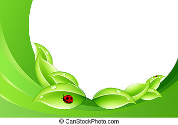 Nature concept - Abstract nature concept in green color with...