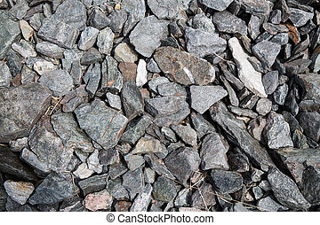 close up of granite stones - nature concept - close up of ...
