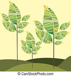 nature design over cream background vector illustration