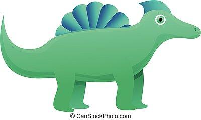 Nature dinosaur icon, cartoon style