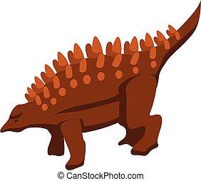 Nature dinosaur icon, isometric style