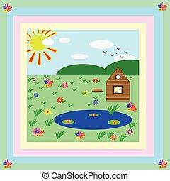 Nature drawing children art wallpaper