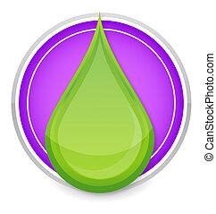 nature drop symbol green color