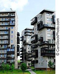 nature., edificios, today., nuevo, vilnius