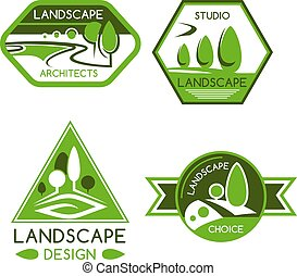 Nature emblem for landscaping services design - Nature...