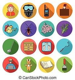 nature, entertainment, hobbiesand other web icon in flat style. diplomacy, business, ecology icons in set collection.