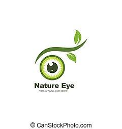 nature eye icon Logo vector Template illustration