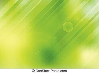 nature, flamme, résumé, brouillé, lentille, lighting., arrière-plan vert