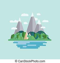 Nature flat style