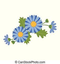Nature flower blue daisy