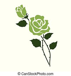 Nature flower green rose