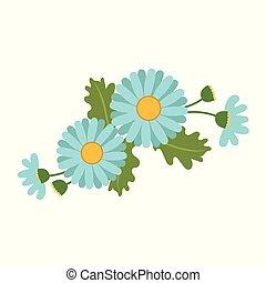 Nature flower light blue daisy