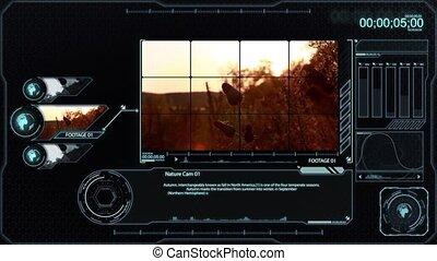 Nature footage analysis monitor
