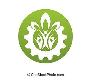nature, gens, vecteur, santé, gabarit, logo
