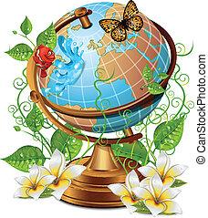 Nature Globe Icon