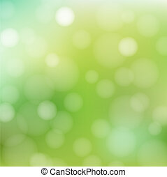 Nature Green Background With Bokeh