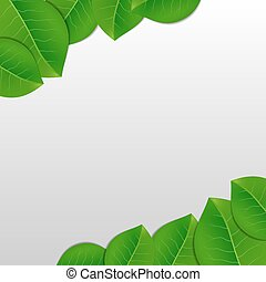 Nature green leaves background
