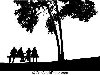nature., gruppo, persone