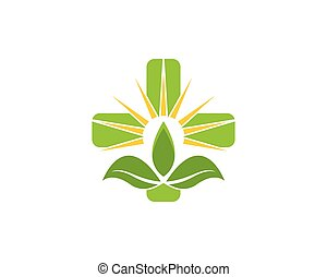 Nature health logo vector