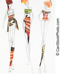 nature inspired fashion collage