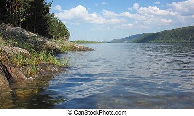 Nature - landscape 29 - Landscape with river in forest.