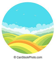 nature landscape and blue sky