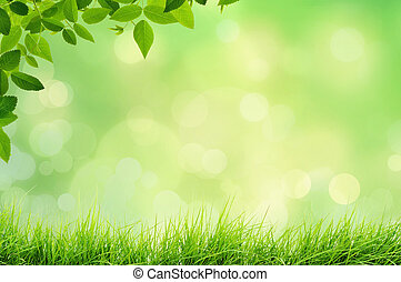 Nature landscape with grass