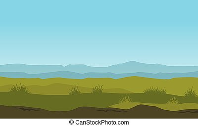 nature landscape with mountain background