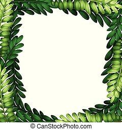 Nature leaf branch border