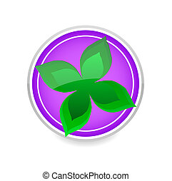nature leaf green color symbol isolated