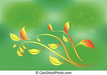 Nature leafs autumn vector image