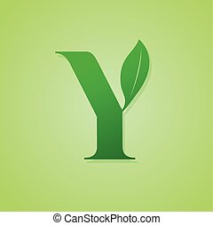 Nature lettering for green ecology logo vector.