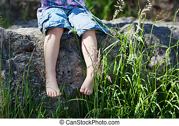 Nature lover - Conceptual image of a young nature lover with...