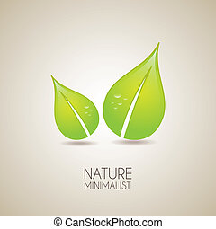 nature minimalist over vintage background vector...