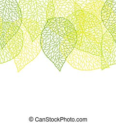 nature, modèle, leaves., seamless, stylisé, vert