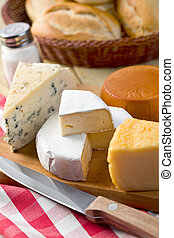 nature morte, à, fromages