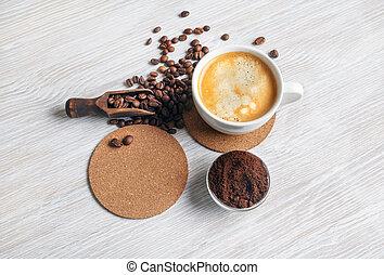 nature morte, café