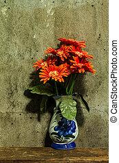 nature morte, fleur, tas