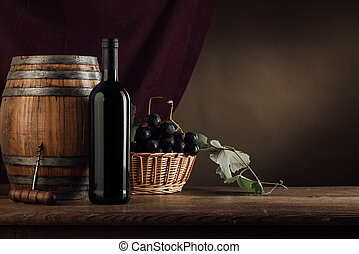 nature morte, fruit, dégustation de vins