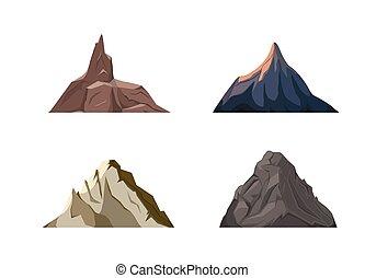 Nature mountains set