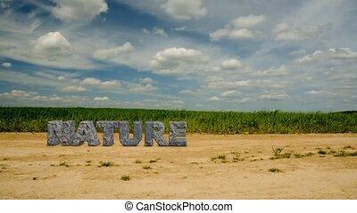 nature., napis, kamień, 47, asekurować, environment.