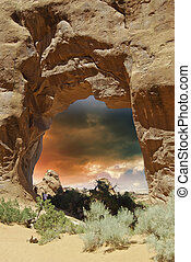 Nature of Arches National Park, U.S.A.