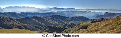 landscape panorama with mountains