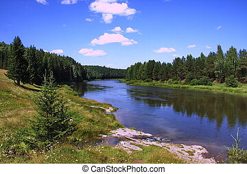 nature of the Ural River Chusovaya in the Perm region