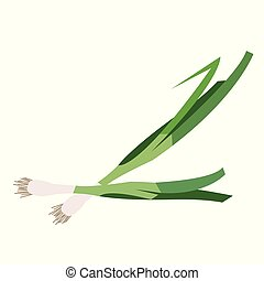 Nature organic vegetable Scallion green onion, healthy...