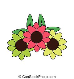 nature ornament flowers decoration cartoon