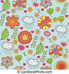 Nature ornate floral seamless pattern cartoon