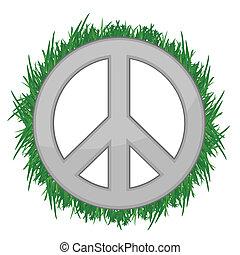 nature, paix, illustration, signe